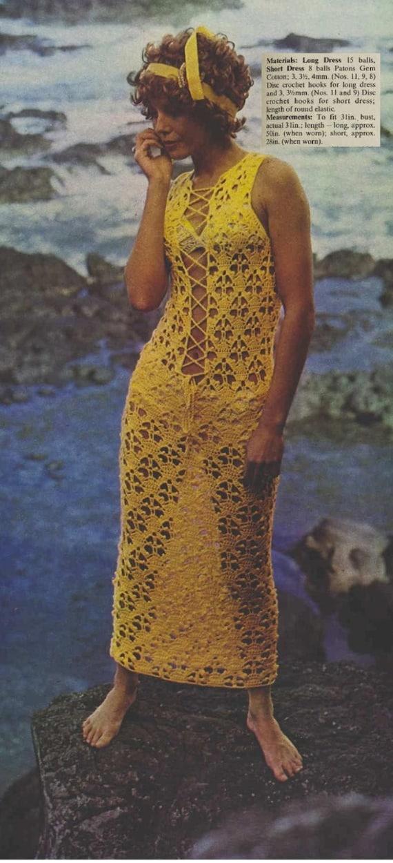 Patron de tejdo en crochet 70s pdf de tejido a crochet | Etsy