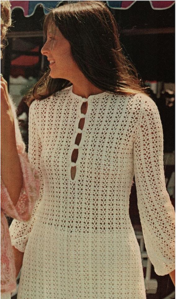 Crochet Dress Pattern Vintage 70s Crochet Tunic Top Crochet Etsy