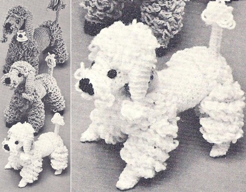 Patron pdf de tejido en crochet juguete perrito perro poodle de ...