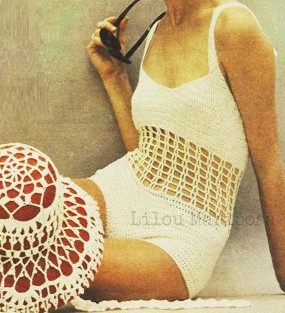 Patron pdf de tejido en crochet Traje de bano BIKINI crochet y | Etsy