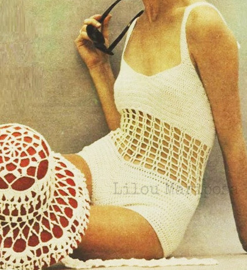 Crochet Swimsuit Pattern Crochet Hat Pattern Crochet Bikini Etsy