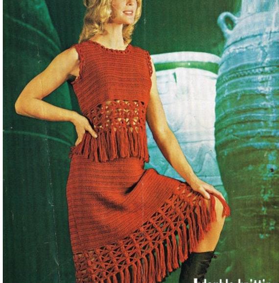 Crochet Dress Pattern Vintage 70s Crochet Top Pattern Crochet Etsy