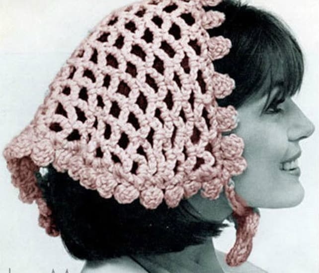 Patron pdf 40s de tejido en crochet el snood velo de novi a | Etsy