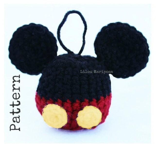 Patron pdf crochet MICKEY MOUSE para navidad-decoracion de | Etsy
