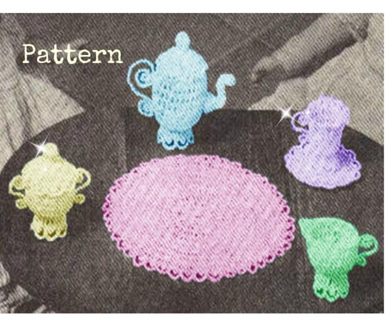 Pdf Crochet El De En Patron Para Tazas A TeJuguete Juego 60s Tejido L5j4AR