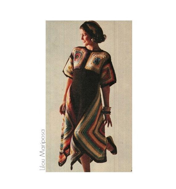 Patron pdf de tejido en crochet vestido con cuadros sueter   Etsy