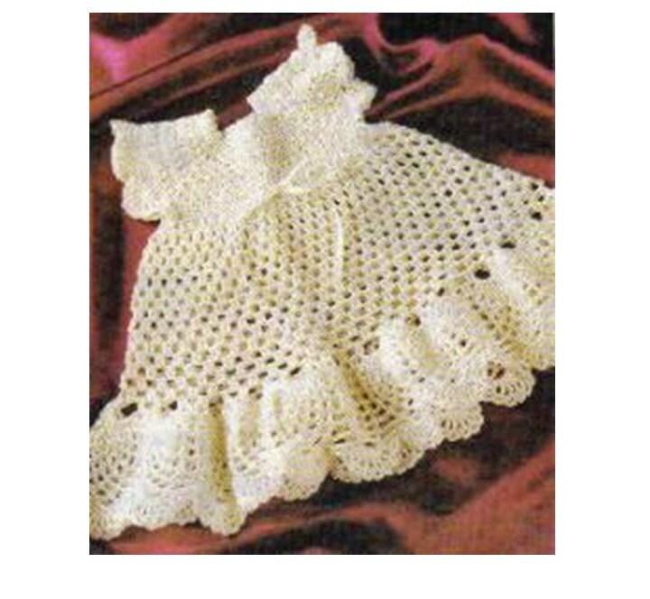 Patron pdf de tejido crochet vestido nina 1970s | Etsy