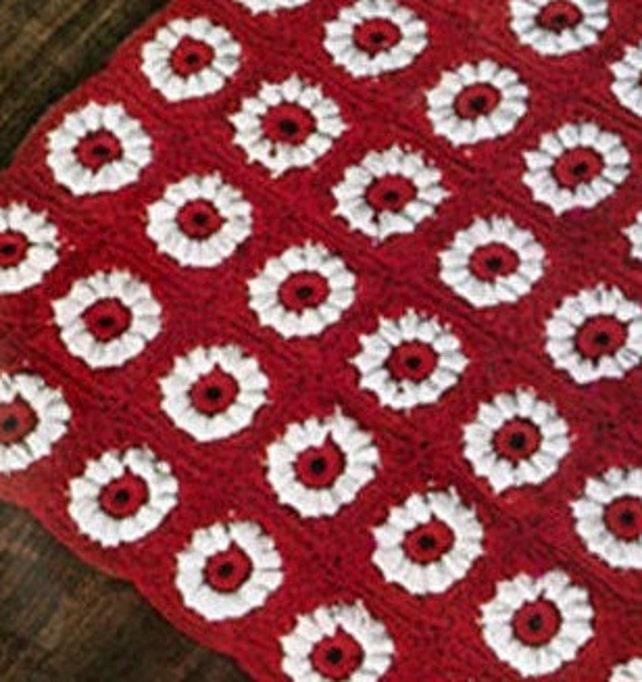 Patron pdf de tejido tapete con flores 70s | Etsy