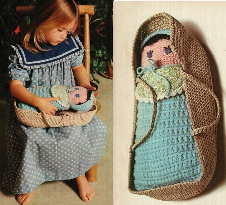 Patron pdf de tejido en crochet muneca de crochet y canasta de ...
