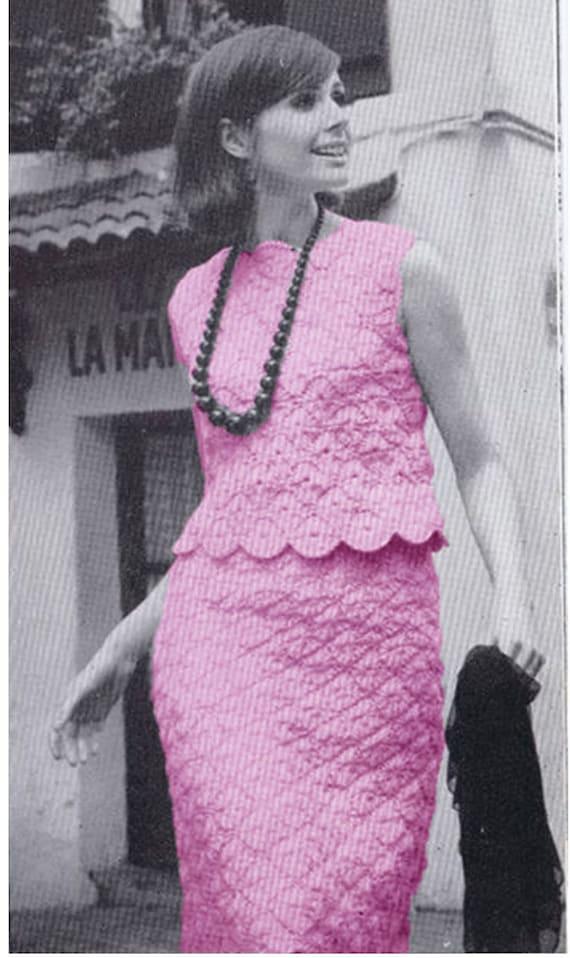 Crochet Dress Pattern Vintage 70s The Paris Touch Dress 2 Etsy