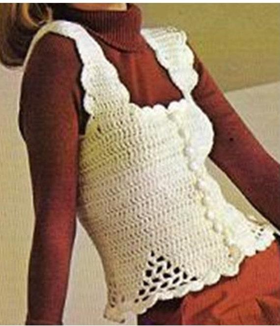 Crochet Top Pattern Vintage 70s Crochet Vest Pattern Crochet Etsy