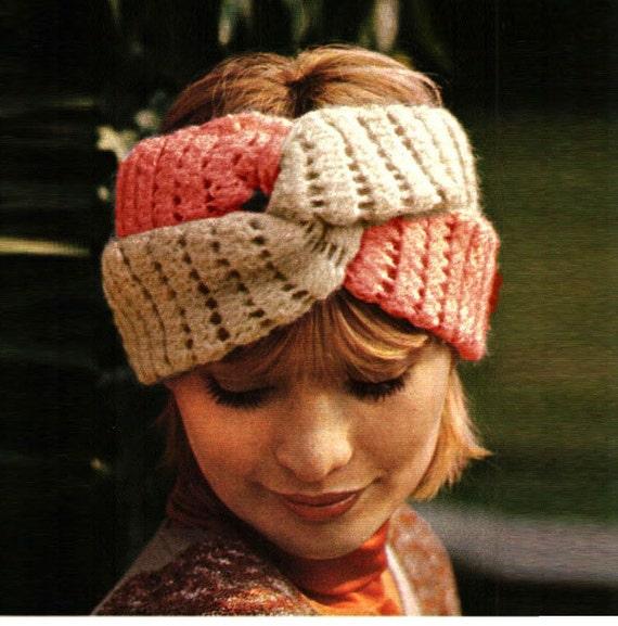 Patron pdf de tejido en crochet la banda para pelo turbante