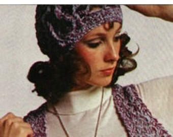 Crochet Hat Pattern Crochet Bridal Veil Pattern Vest Pattern Knitting Vest Pattern Vintage Patterns