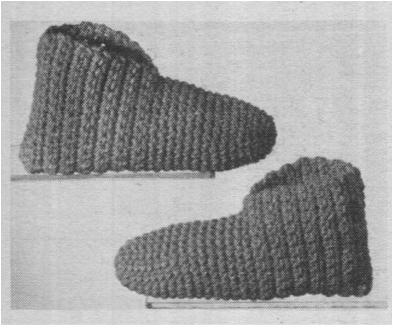 Easy Crochet Slippers Pattern Vintage 70s Slipper Pattern Etsy