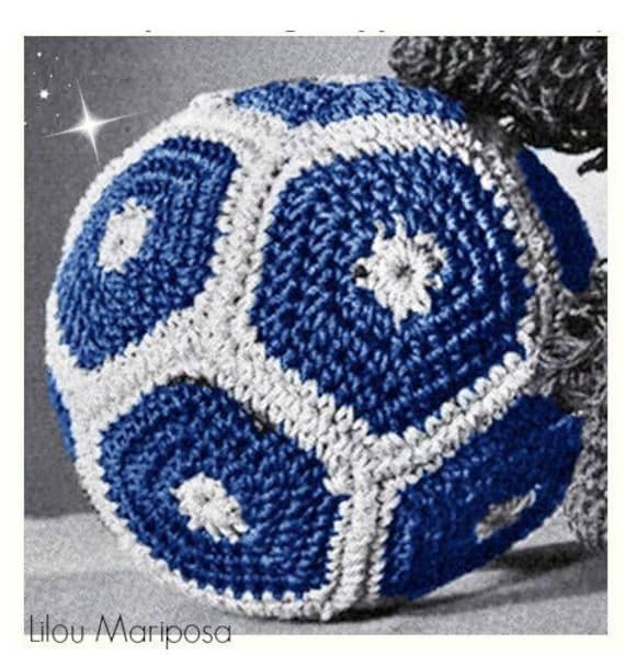 Patron pdf de tejido en crochet juguete balon pelota soccer