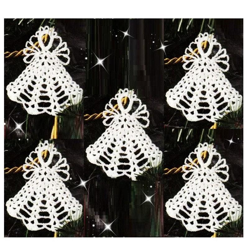 Crochet Christmas Angel Ornament Pattern Crochet Ornament Etsy