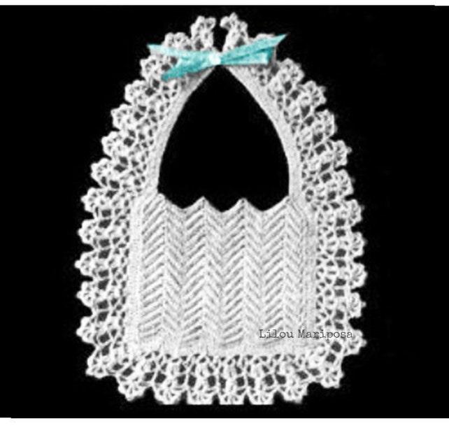 Patron pdf de tejido crochet babero bebe crochet 40s | Etsy