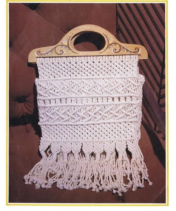 Patron pdf de tejido macrame bolsas bohemias vintage 1970s | Etsy