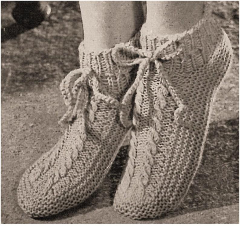 00b60422023 SOCKS PATTERN Vintage 50s Knitting Pattern Booties Pattern