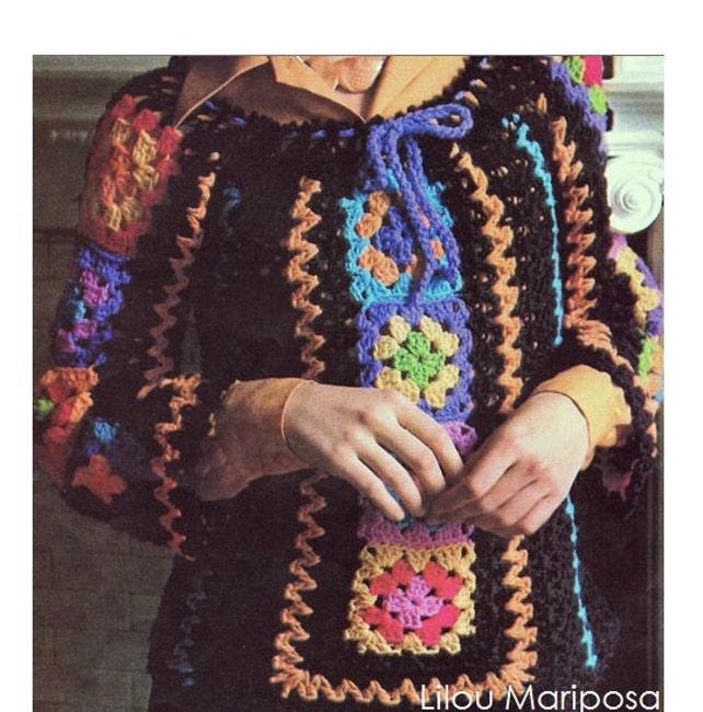 Patron de crochet 70s pdf de tejido crochet blusa top   Etsy
