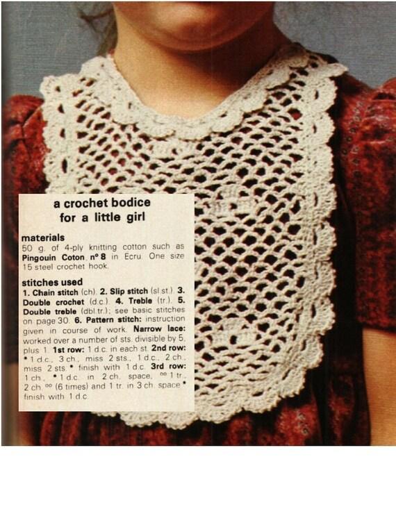 Patron CROCHET collar vintage 70s babero bebe a crochet | Etsy