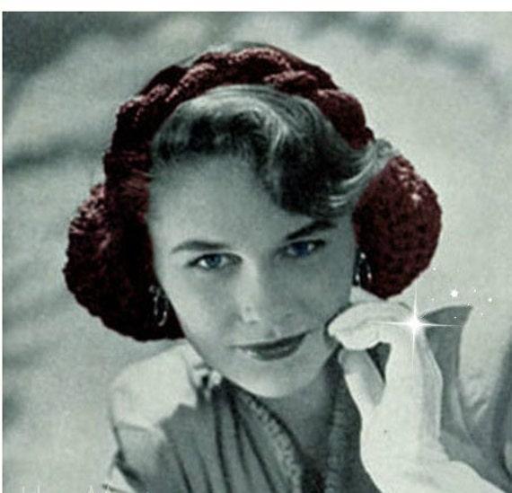 Crochet Snood Pattern Crochet Hair Net Pattern Vintage 40s Etsy