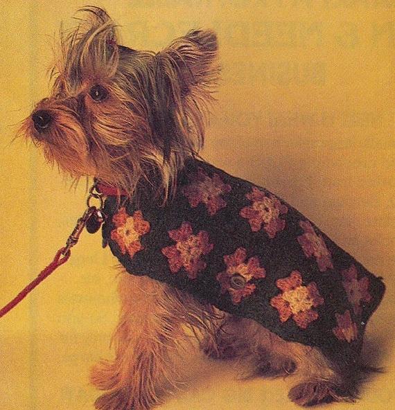 Patron 70 pdf de tejido en crochet sueter para perro mascota | Etsy
