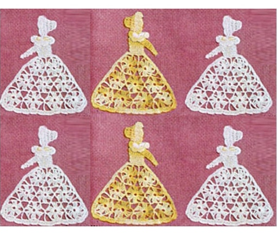 Patron pdf 1913 de tejido en crochet mariposas aplique de