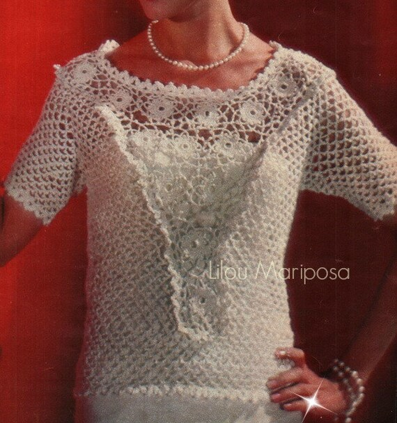 Crochet Top Pattern Crochet Blouse Pattern Crochet Lace Top Etsy
