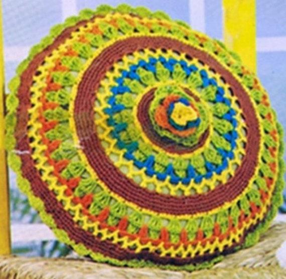 Crochet Pillowcase Pattern Vintage 70s Crochet Pillow Pattern Etsy