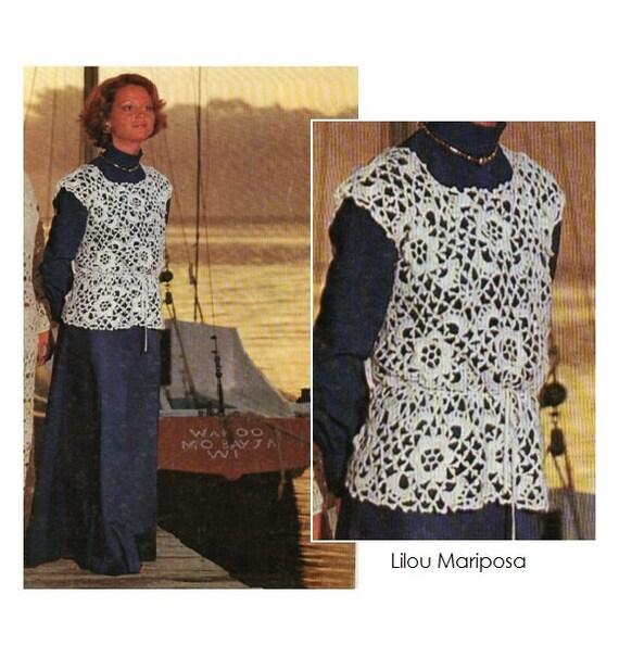 Patron de crochet 70s pdf de tejido top blusa tipo irlandes   Etsy