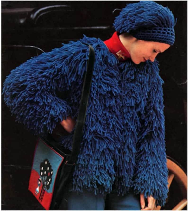 5 Patterns Crochet Pattern Vintage 70s Crochet Jacket Crochet Etsy