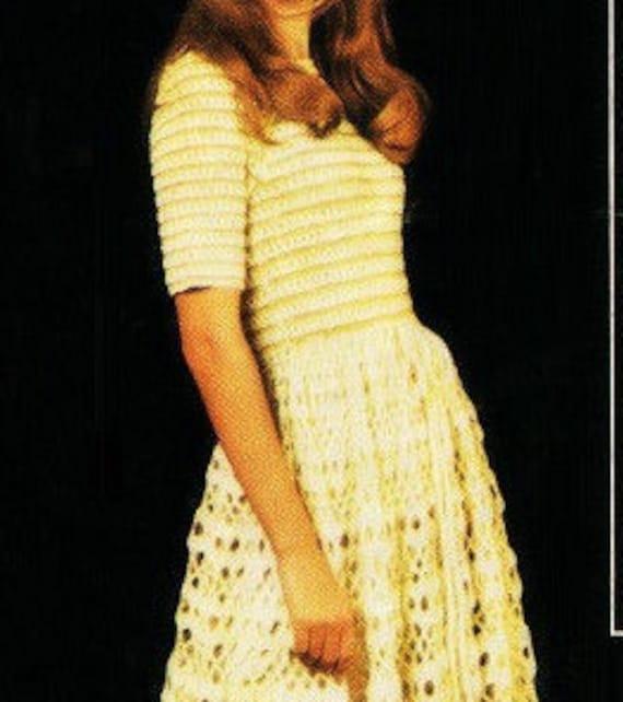 Patron de tejido crochet 70s patron pdf de tejido vestido