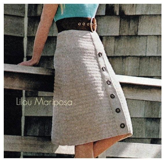 Patron pdf de tejido en crochet falda de botones falda a   Etsy
