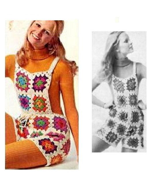 Patron pdf de tejido en crochet overall shorts de cuadros | Etsy