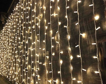 300 LED Curtain String Light, 8 Lighting Modes Fairy Twinkle String Lights Wedding Party Home Garden Bedroom Outdoor Indoor Wall Decorations