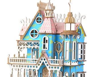 Fantasy Villa 3D puzzle, wooden puzzle, puzzle for adults, wooden model kit, wooden model, 3D puzzle assembly