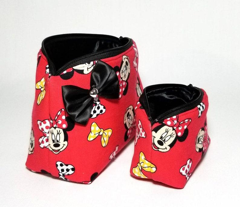 Minnie Mouse makeup bag mini coin purse keychain bag. Gift ...