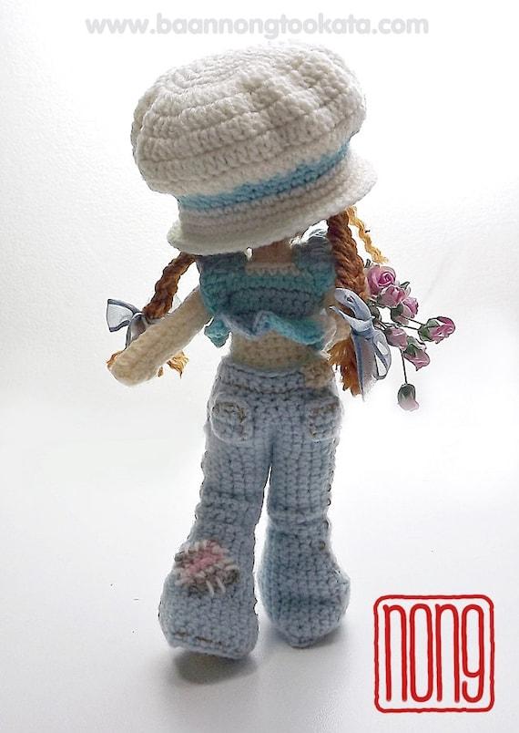Sarah del ganchillo muñeca patrón diseño de nong | Etsy