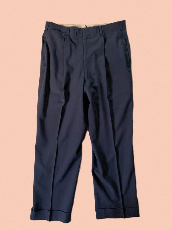"""1950s Rayon Trousers 33""""x26"""""""