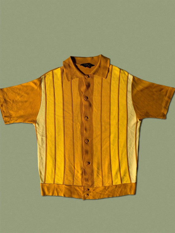 1960s Acetate Knit Shirt Medium