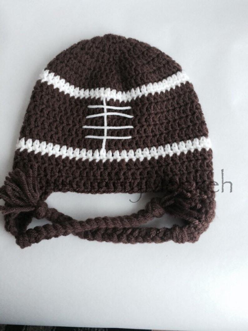 9c9ebda7 Customizable crochet football hat with earflaps