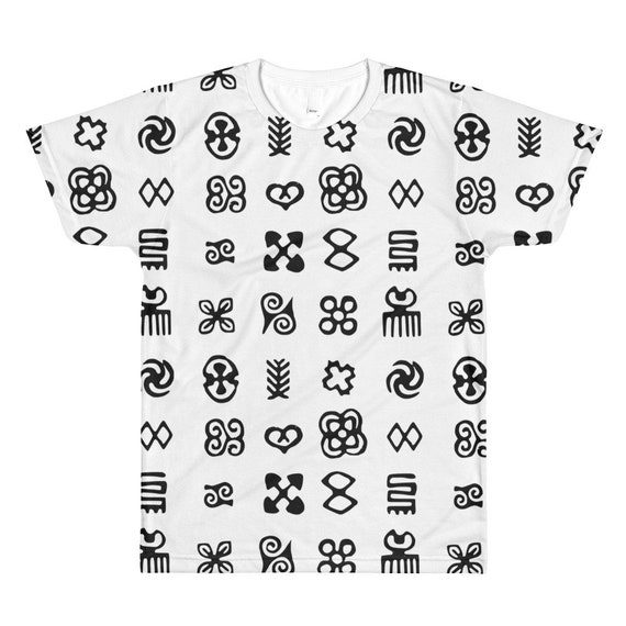 West Africa Adinkra Ethnic Symbols All Over Printed T Shirt Etsy