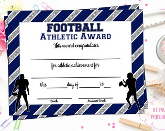 Instant download lacrosse certificate lax award lacrosse instant download football certificate football award football printable football achievement end of season award team party yelopaper Gallery