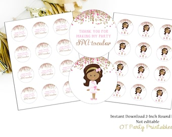 INSTANT DOWNLOAD - Spa Thank You Label - Printable - DIY - Spa Birthday Party - Spa Thank You - Spa Party Thank You - Spatacular - Rose Gold