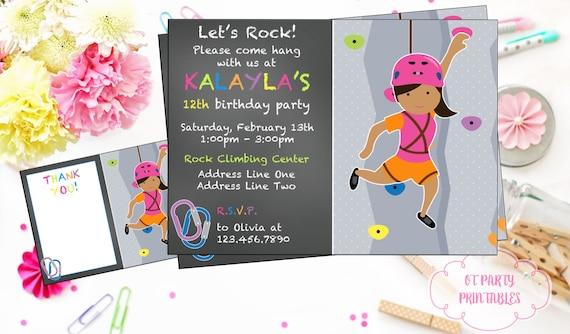 Girl rock climbing invitation rock climbing birthday etsy image 0 filmwisefo