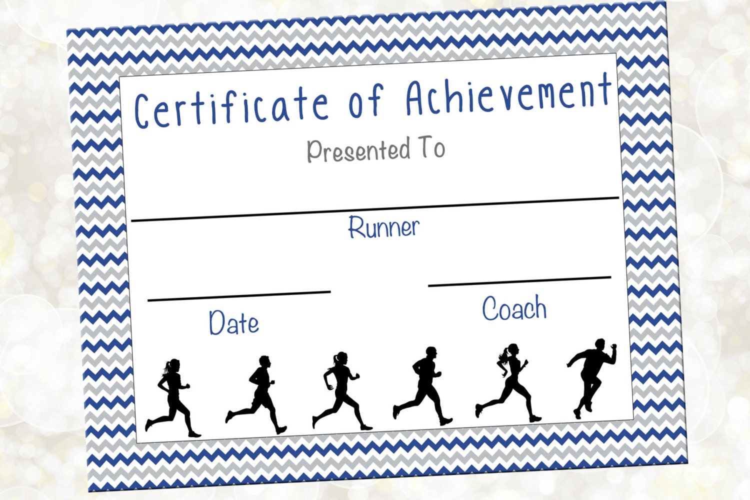 zoom - Cross Country Certificate Templates Free