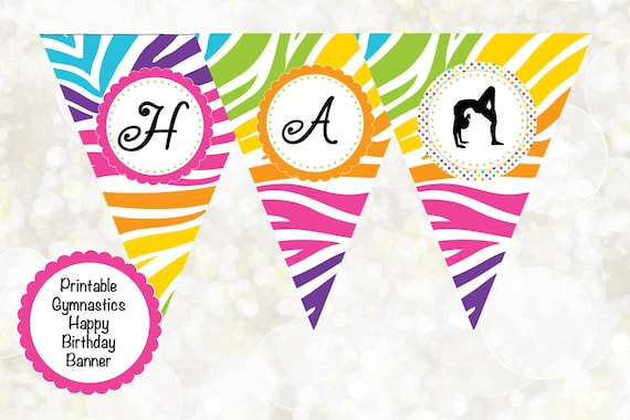 30 Thank You Cards Customized Pink Zebra Artistic Gym Gymastic Birthday A1