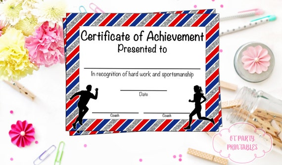 image 0 - Cross Country Certificate Templates Free
