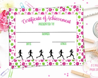 instant download cross country certificate